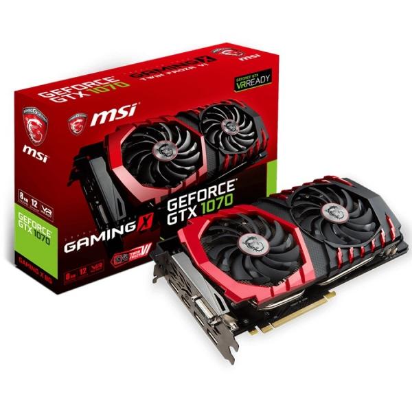 MSI Video Card GeForce GTX 1070 GDDR5 8GB/256bit, 1582MHz/8008MHz, PCI-E 3.0 x16, 3xDP, HDMI, DVI-D, Twin Frozr VI Cooler (Double Slot), Retail 1