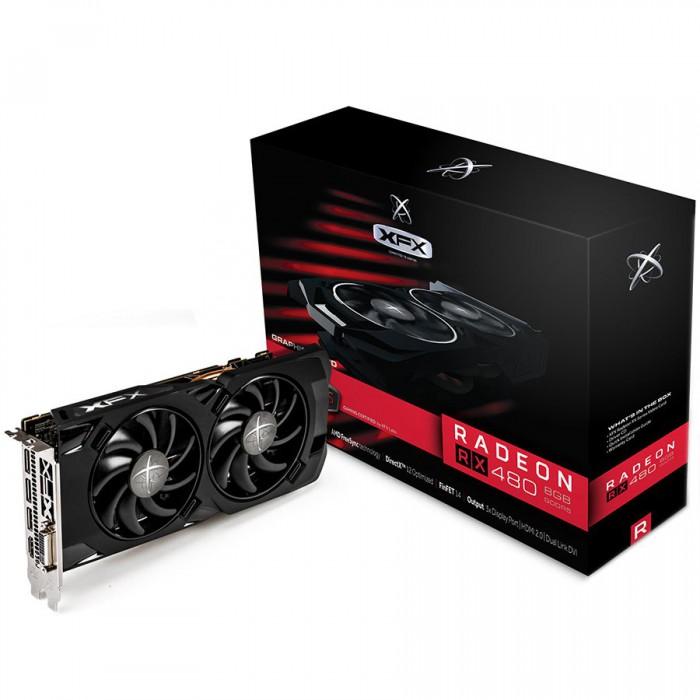 XFX Video Card AMD Radeon RX480 XXX GDDR5 8GB/256bit, 1288MHz/8000MHz, PCI-E 3.0 x16, HDMI, DVI, 3xDP, DD 2X cooler (Double Slot), Backplate, Retail [0]