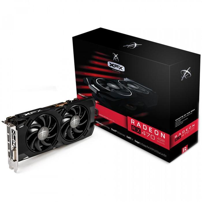 XFX Video Card AMD RADEON RX 470 RS 4GB D5 1280M BLACK HS BP 3xDP HDMI DVI [0]