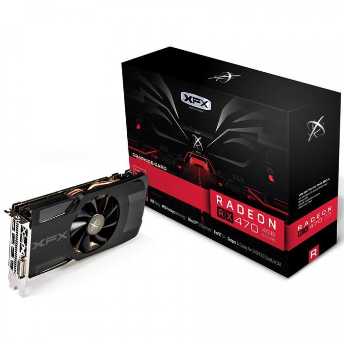 XFX Video Card AMD RADEON RX 470 4GB D5 1206M CUSTOM BP 3xDP HDMI DVI [0]