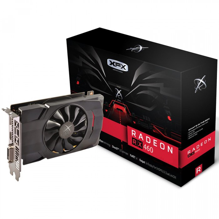 XFX Video Card AMD RADEON RX 460 2GB D5 1220M DP HDMI DVI [0]