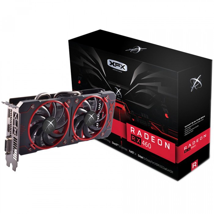 XFX Video Card AMD RADEON RX 460 2GB GDDR5 1220MHZ CORE EDITION DISPLAY [0]
