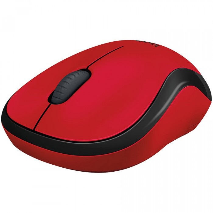 "MOUSE LOGITECH wireless, 1000dpi, 3 butoane, 1 rotita scroll, ""M220 Silent"", red, ""910-004880"" (include timbru verde 0.1 lei) 1"