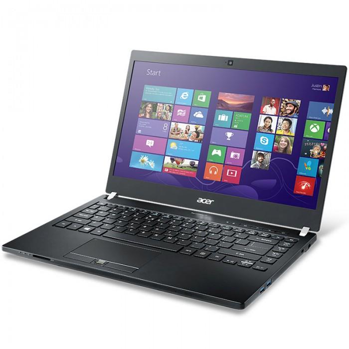 """ACER, TravelMate TMP648-M-578H, 14"""", FHD, Intel Core i5-6200U, DDR4 8GB (2x4), SSD 128GB, SATA 1TB 5400rpm, no ODD, VGA Int., HDMI, WiFi, BT 4.0, Gbit LAN, HD webcam, 3 cell batt., 3G & CAT4 LTE, back [2]"""