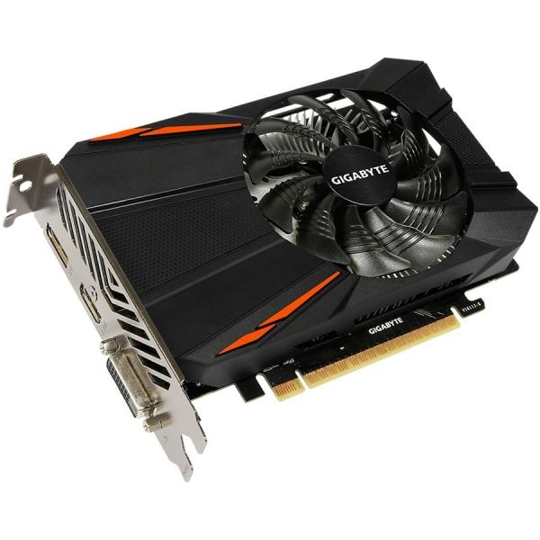 GIGABYTE Video Card GeForce GTX 1050 GDDR5 2GB/128bit, 1354MHz/7008MHz, PCI-E 3.0 x16, HDMI, DVI-D, DP, VGA Cooler(Double Slot), Retail 1