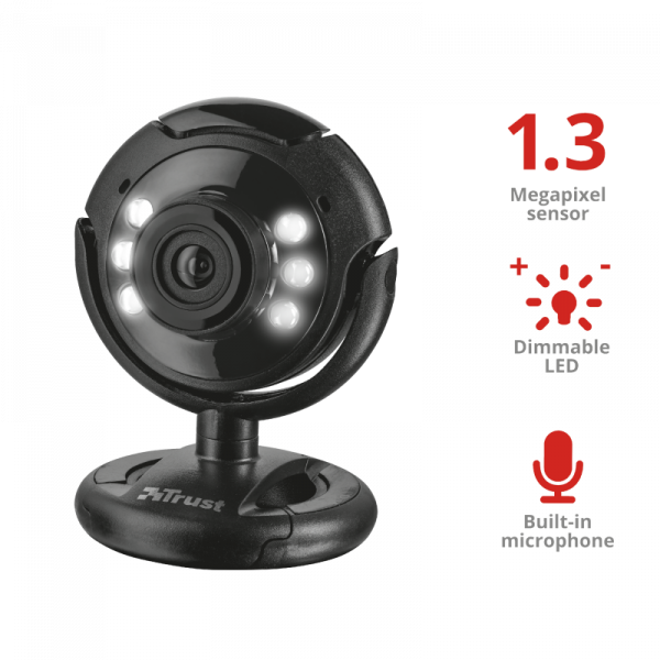 Camera WEB Trust SpotLight Pro Webcam LED Lights 0