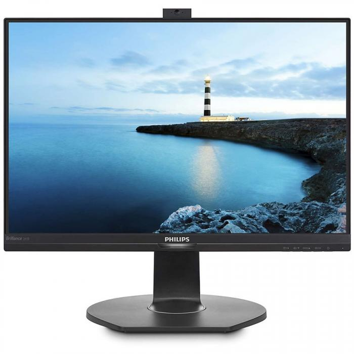 Philips Monitor 241B7QPJKEB/00 Brilliance with PowerSensor Series B, 24 (diagonal  23,8 inch / 60,5 cm), Full HD (1920 x 1080), USB 3.0, VGA (analog), HDMI, DisplayPort 1.2, 1.4 0