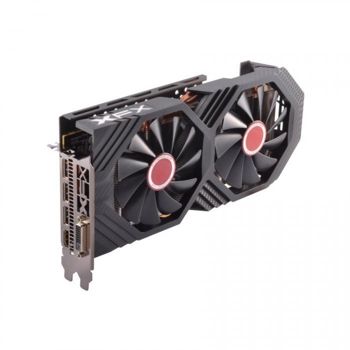 XFX Video Card AMD RADEON RX 580 GTS 8GB XXX Ed. OC 1366 Mhz GDDR5 8GB/256bit Dynamic 22 Blade fan 3X DP HDMI DVI [1]