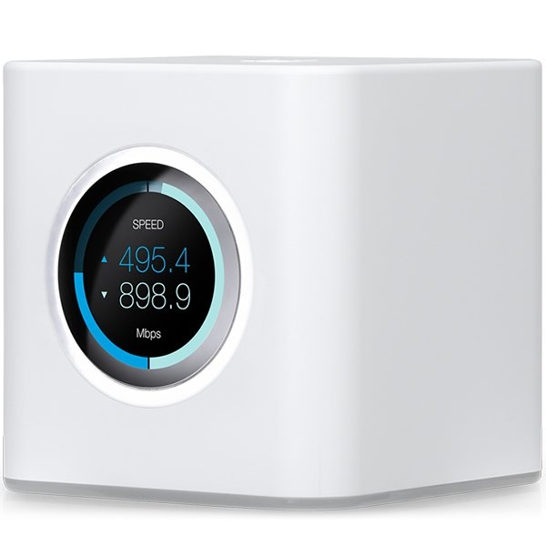Ubiquiti AmpliFI HD Mesh Router, Dual-Band 802.11AC 3X3 MIMO Wi-Fi, Wi-Fi/Gigabit Ethernet (1) WAN, (4) LAN, 802.11ac 13 Mbps to 1300 Mbps,6.5 Mbps to 450 Mbps 0