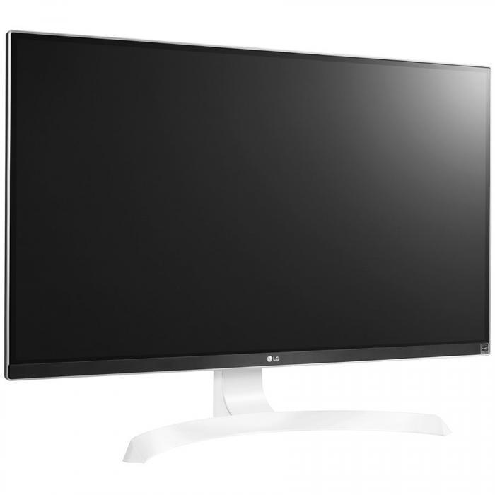 Monitor LED LG 27UD69P-W 27\'\' FreeSync, 3840x2160, IPS, 4K, 1000:1, 5000000:1(DCR), 178/178, 5ms, 300cd, 2xHDMI, Display Port, USB3.0, VESA,Black 3