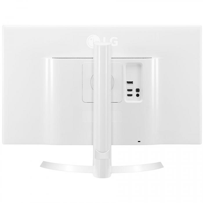 Monitor LED LG 27UD69P-W 27\'\' FreeSync, 3840x2160, IPS, 4K, 1000:1, 5000000:1(DCR), 178/178, 5ms, 300cd, 2xHDMI, Display Port, USB3.0, VESA,Black 1