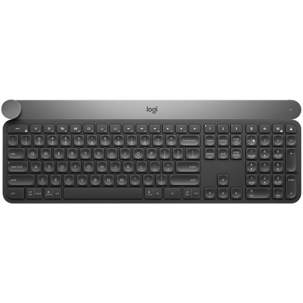 "LOGITECH Wireless Keyboard CRAFT with creative input dial - BT - INTNL - US International layout ""920-008504"" 0"
