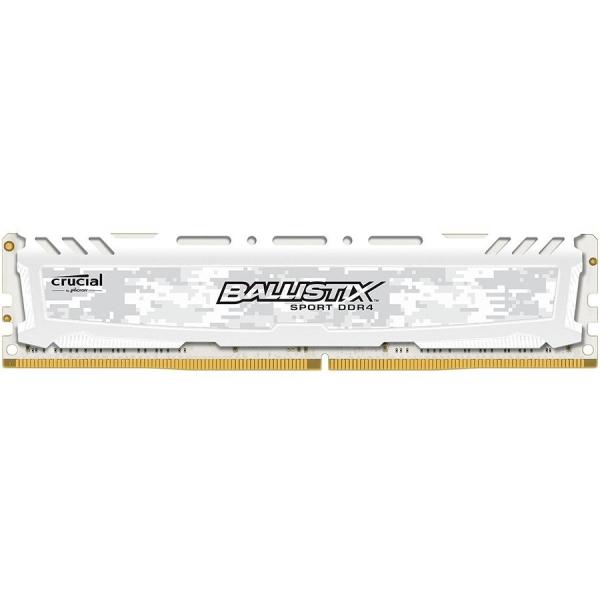 Crucial DRAM 4GB DDR4 2666 MT/s (PC4-21300) CL16 SR x8 Unbuffered DIMM 288pin Ballistix Sport LT DDR 4 UDIMM - White, EAN: 649528781727 0
