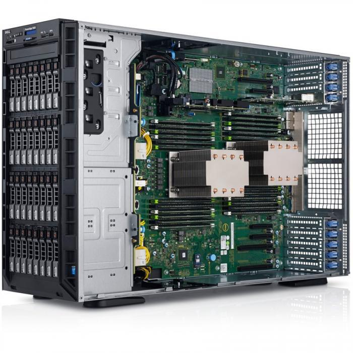 Server Dell PowerEdge T630 - Tower - 1x Intel Xeon E5-2620v4 8C/16T 2.1GHz, 16GB (1x16GB) DDR4-2400 RDIMM, DVD+/-RW, 1x 240GB SSD (max. 16 x 2.5\'\' hot-plug HDD), RAID PERC H730 1GB Cache, iDRAC8 Ent 1