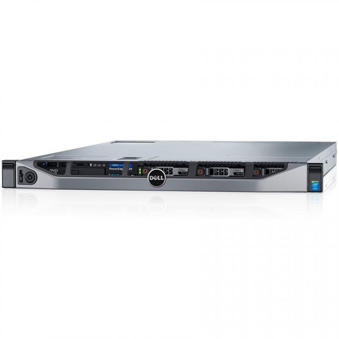 Server Dell PowerEdge R630 - Rack 1U - 1x Intel Xeon E5-2620v4 8C 2.1GHz, 16GB (1x16GB) DDR4-2400 RDIMM, DVDRW, 1x 120GB SSD (max. 8 x 2.5\'\' hot-plug HDD), PERC H730 1GB Cache, iDRAC8 Enterprise, Ho 0