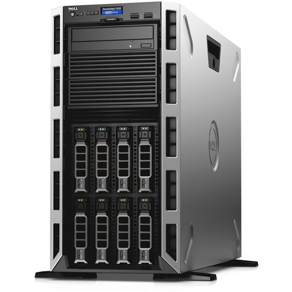 Server Dell PowerEdge T430 - Tower - 1x Intel Xeon E5-2620v4 8C/16T 2.1GHz, 16GB (1x16GB) DDR4-2400 RDIMM, DVD+/-RW, 1x 120GB SSD (max. 8 x 3.5\'\' hot-plug HDD), PERC H730 1GB Cache, iDRAC8 Enterpris 0