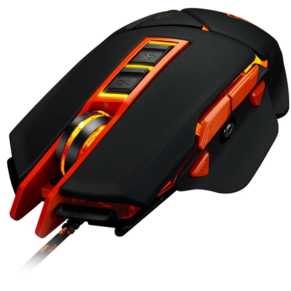 CANYON Optical gaming mouse, adjustable DPI setting 800/1000/1200/1600/2400/3200/4800/6400, LED backlight, moveable weight slot and retractable top cover for comfortable usage 3