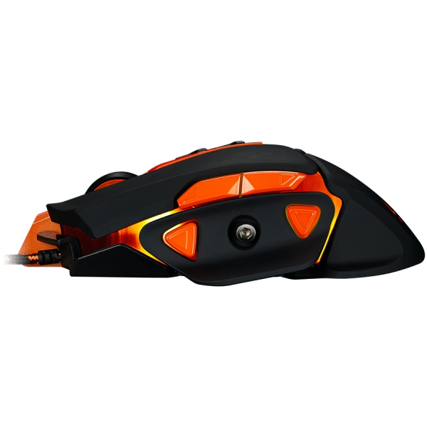 CANYON Optical gaming mouse, adjustable DPI setting 800/1000/1200/1600/2400/3200/4800/6400, LED backlight, moveable weight slot and retractable top cover for comfortable usage 2