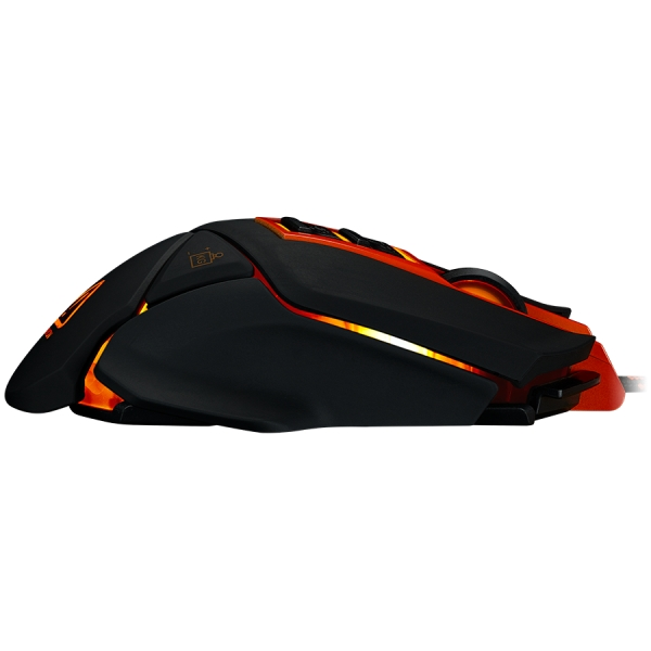CANYON Optical gaming mouse, adjustable DPI setting 800/1000/1200/1600/2400/3200/4800/6400, LED backlight, moveable weight slot and retractable top cover for comfortable usage 1