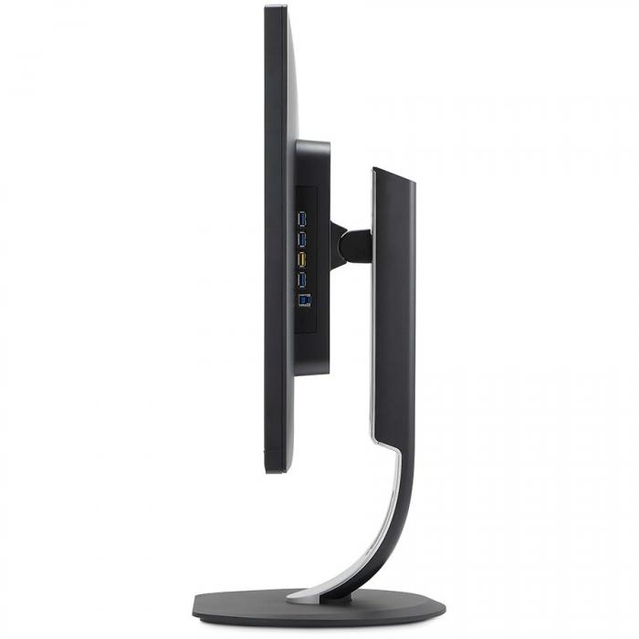 "Monitor 31.5"" PHILIPS 328P6VJEB, 4K UHD 3840*2160, VA, WLED, 60 Hz, 300cd/mp, 16:9, 3000:1/ 50M:1, 4 ms, anti-glare 3H, 178/178, Fli cker-free,MHL, VGA, DVI, DP, HDMI/ MHL, 4* USB, PC audio in, boxe 2 1"