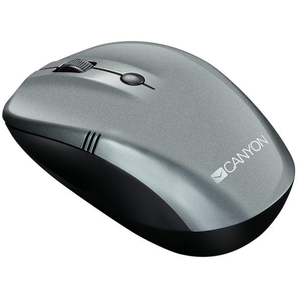 CANYON 2.4Ghz wireless mice, 4 buttons, DPI 800/1200/1600, dark gray pearl glossy 1