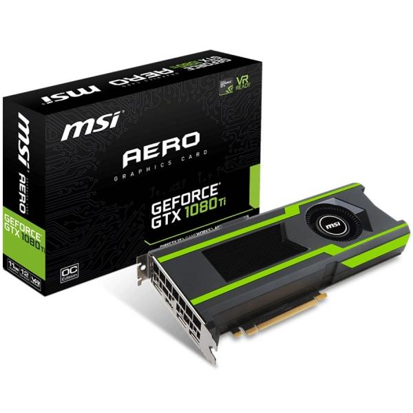 MSI NVIDIA GTX 1080 TI 11GB GDDR5X - GeForce GTX 1080 TI AERO 11G OC, 1506MHz/1620MHz, 11GB GDDR5X/352bit 11016MHz, CUDA: 3584, HDMI-DP 0