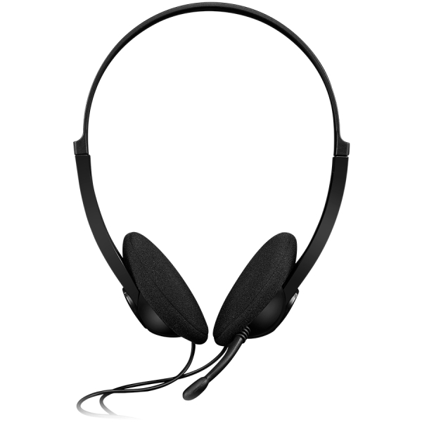 CANYON PC headset with microphone, volume control and adjustable headband, cable 1.8M, Black 1