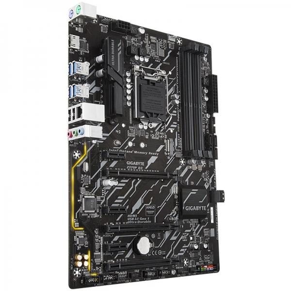 GIGABYTE Main Board Desktop INTEL Z370 (s1151v2, 4xDDR4, HDMI, 1xPCIEX16/2xPCIEX4(16)/3xPCIEX1, USB3.1/USB2.0, 6xSATAIII/RAID/1x M.2socket3, LAN) ATX retail 0