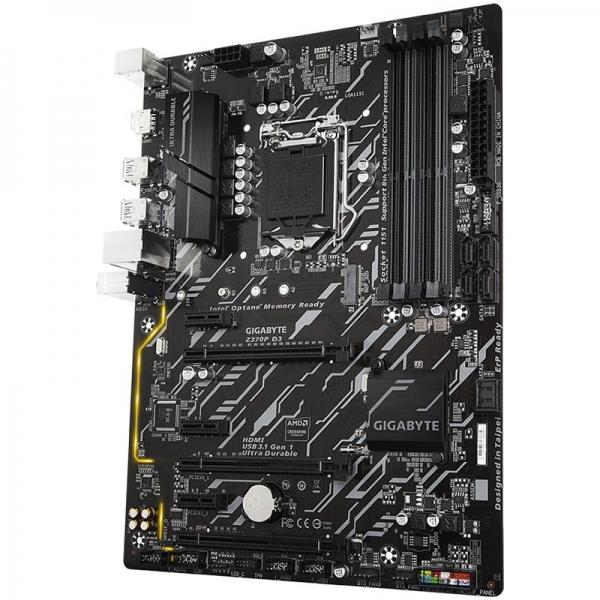GIGABYTE Main Board Desktop INTEL Z370 (s1151v2, 4xDDR4, HDMI, 1xPCIEX16/2xPCIEX4(16)/3xPCIEX1, USB3.1/USB2.0, 6xSATAIII/RAID/1x M.2socket3, LAN) ATX retail 1