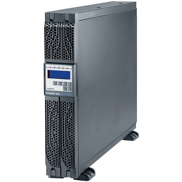 UPS Legrand DAKER DK + Tower/Rack, 2000VA/1800W, On Line Double Conversion, Sinusoidal, PFC, USB & RS232 port, 6 x IEC C13, batteries 6x 12V, 7.2Ah, 29.5 kg, (Optional Kit Rack 310952, SNMP card 31093 0