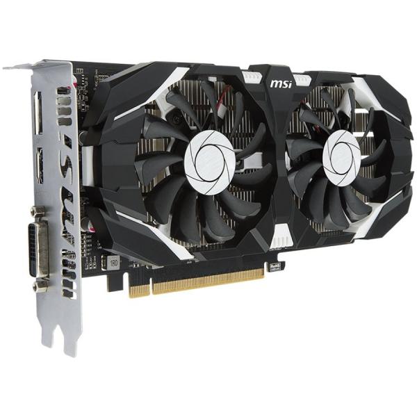 MSI Video Card GeForce GTX 1050 OC GDDR5 2GB/128bit, 1404MHz/7008MHz, PCI-E 3.0 x16, DP, HDMI, DVI-D, Sleeve 2X Fan Cooler (Double Slot), Retail 1