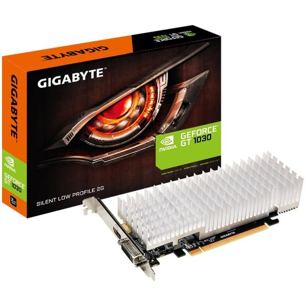 GIGABYTE GT1030 2GB DDR5 GV-N1030SL-2GL, Vidia, PCIE, GPU:1227/1468 / 1252/1506MHz, RAM:6008MHz, 2048MB, DDR5, 64bit,1xDVI, 1xHDMI, LP 0