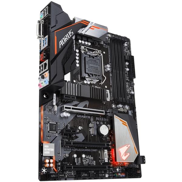 Gigabyte Main Board Desktop B360 (S1151v2, 4xDDR4, HDMI, DVI-D, 1xPCIex16, 1xPCIex4, 3xPCIex1, Intel i219V, WIFI, 6xSATA3, M.2, USB 3.1, USB 3.0) ATX, retail 3