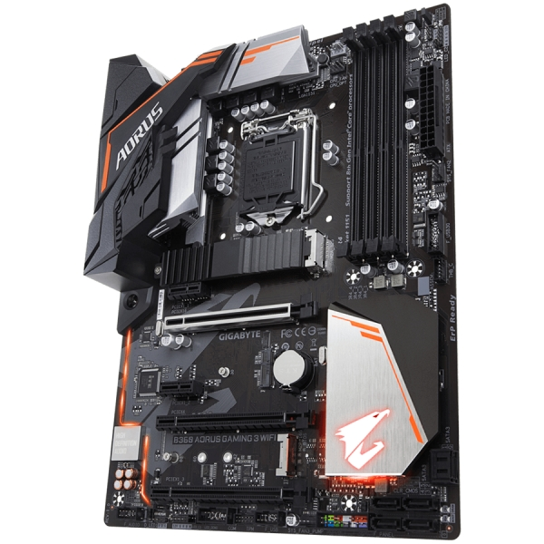 Gigabyte Main Board Desktop B360 (S1151v2, 4xDDR4, HDMI, DVI-D, 1xPCIex16, 1xPCIex4, 3xPCIex1, Intel i219V, WIFI, 6xSATA3, M.2, USB 3.1, USB 3.0) ATX, retail 2
