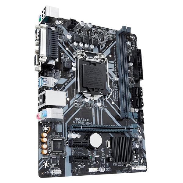 MB GIGABYTE   Intel H310 (S1151v2, 2xDDR4, Realtek ALC887, 1x10/100/1000 Mbit, 1xPCIEX16, 2xPCIEX1, 4xSATA 6Gb/s, 1xPS/2, 1xparallel port, 1xserial port, 1xD-Sub, 2xUSB3.1Gen1, 4xUSB2.0, 1xRJ-45) mATX 3
