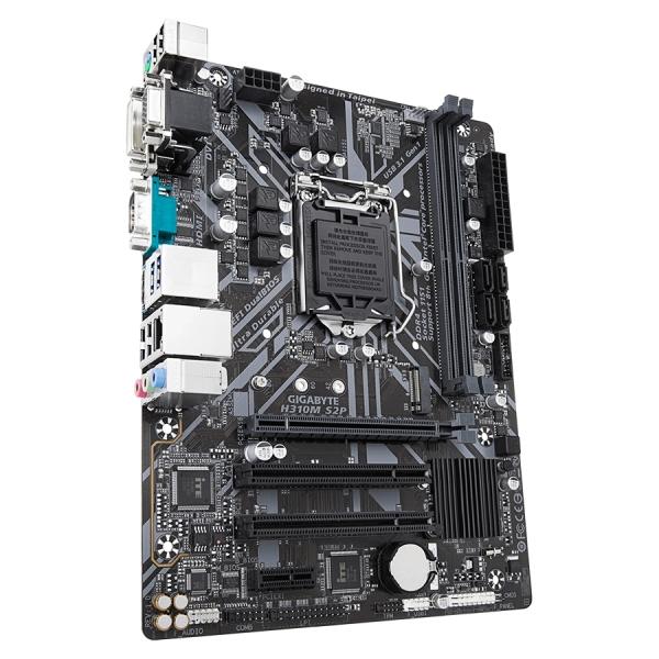 GIGABYTE Main Board Desktop Intel H310 (S1151v2, 2xDDR4, Realtek ALC887, 1x10/100/1000 Mbit, 1xPCIEX16, 1xPCIEX1, 1xM.2, 4xSATA 6Gb/s, 1xPS/2, 1xD-Sub, 1xDVI-D, 1xHDMI, 1xserial port, 2xUSB3.1Gen1, 4x 3