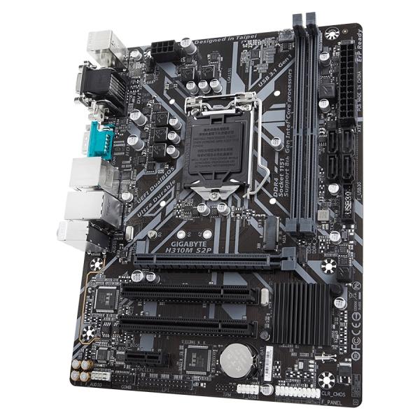 GIGABYTE Main Board Desktop Intel H310 (S1151v2, 2xDDR4, Realtek ALC887, 1x10/100/1000 Mbit, 1xPCIEX16, 1xPCIEX1, 1xM.2, 4xSATA 6Gb/s, 1xPS/2, 1xD-Sub, 1xDVI-D, 1xHDMI, 1xserial port, 2xUSB3.1Gen1, 4x 2