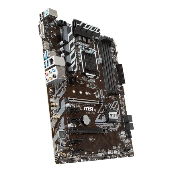 MSI Main Board Desktop B360 (S1151, DDR4, USB3.1, USB2.0, SATA III, M.2, DisplayPort, DVI-D - Requires Processor Graphics, 8-Channel(7.1) HD Audio with Audio Boost, Intel I219-V Gigabit LAN) ATX Retai 2