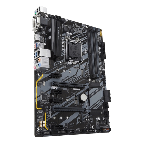 Gigabyte Main Board Desktop B360 (S1151v2, 4xDDR4, HDMI, DVI-D, 1xPCIex16, 1xPCIex4, 4xPCIex1, Realtek 8118, 6xSATA3, M.2 USB 3.1, USB 3.0, USB 2.0) ATX, retail 3