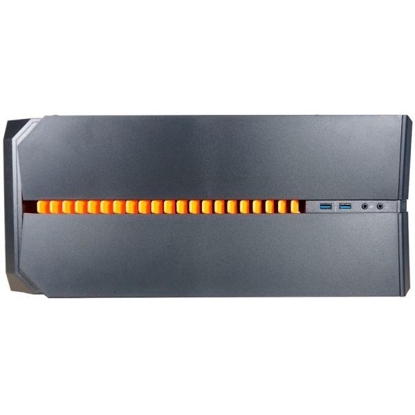 Inaza Devastator Black / Orange, SECC Steel ATX Mid Tower, no source (ATX type, mounted down), black painted interior 2