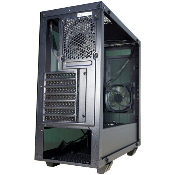 Inaza Drone Black, SECC Steel ATX Mid Tower, no source (ATX type, mounted down), black painted interior 3