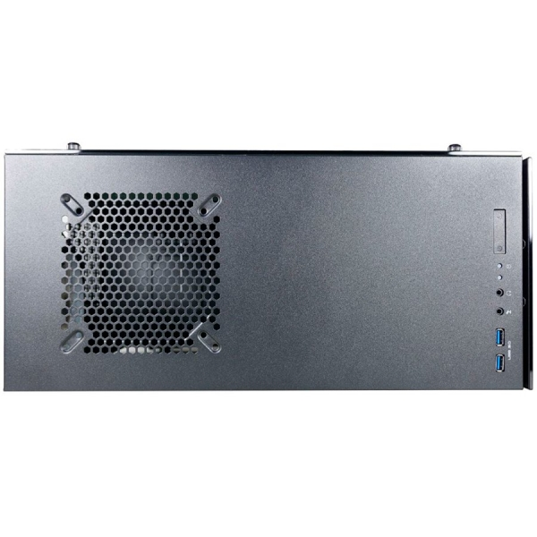 Inaza Drone Black, SECC Steel ATX Mid Tower, no source (ATX type, mounted down), black painted interior 1