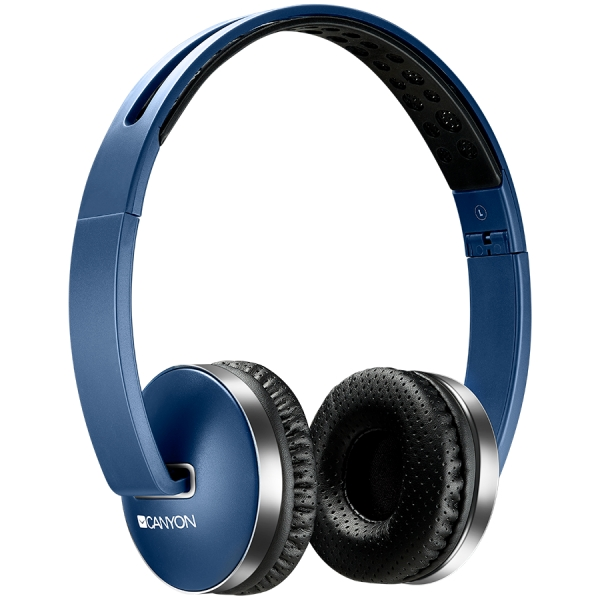 Wireless Foldable Headset, Bluetooth 4.2, Blue 2