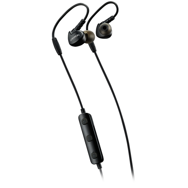 Canyon Bluetooth sport earphones with microphone, 0.3m cable, black 0