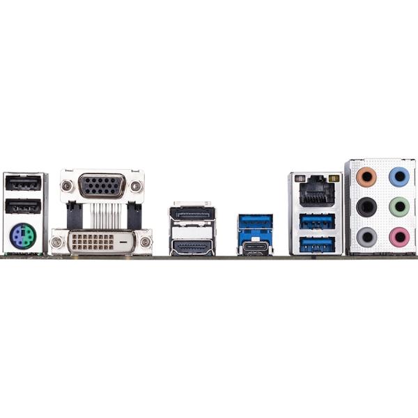GIGABYTE Main Board Desktop Intel  H370 (S1151v2, 4xDDR4, Realtek ALC887, 1x10/100/1000 Mbit, 1xPCIEX16, 1xPCIEX4, 2xPCIEX1, 2xM.2, 6xSATA 6Gb/s, 1xPS/2, 1xD-Sub, 1xDVI-D, 1xHDMI, 1xDP, 1xUSB Type-C,  1