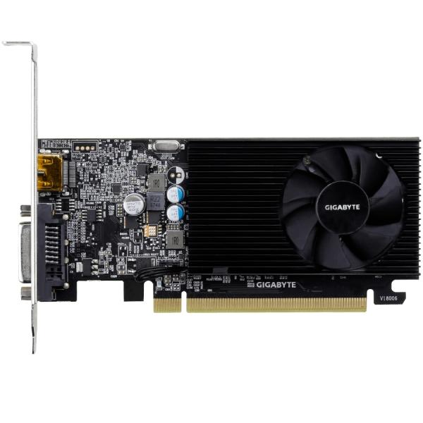 GIGABYTE Video Card GeForce GT 1030 DDR4 2GB/64bit, 1151MHz/2100MHz, PCI-E 3.0 x16, HDMI, DVI-D, Cooler, Low-profile, Retail 2