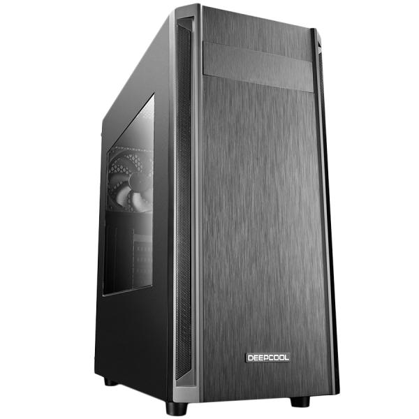 Deepcool D-Shield V2 Black Case, ABS+SPCC Steel ATX Mid Tower Case 0