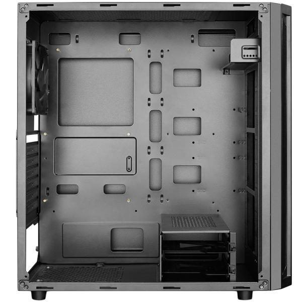 Deepcool D-Shield V2 Black Case, ABS+SPCC Steel ATX Mid Tower Case 1