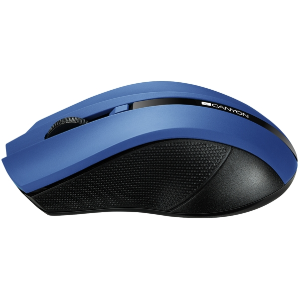 2.4Ghz wireless Optical Mouse with 4 buttons, DPI 800/1200/1600,blue 1