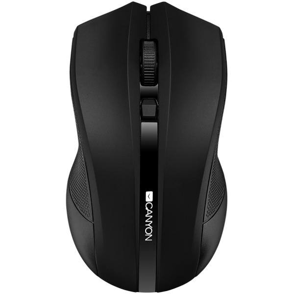 2.4GHz wireless Optical Mouse with 4 buttons, DPI 800/1200/1600, Black 0